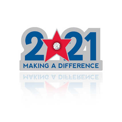 Lapel Pin - 2021: Making a Difference with Gem