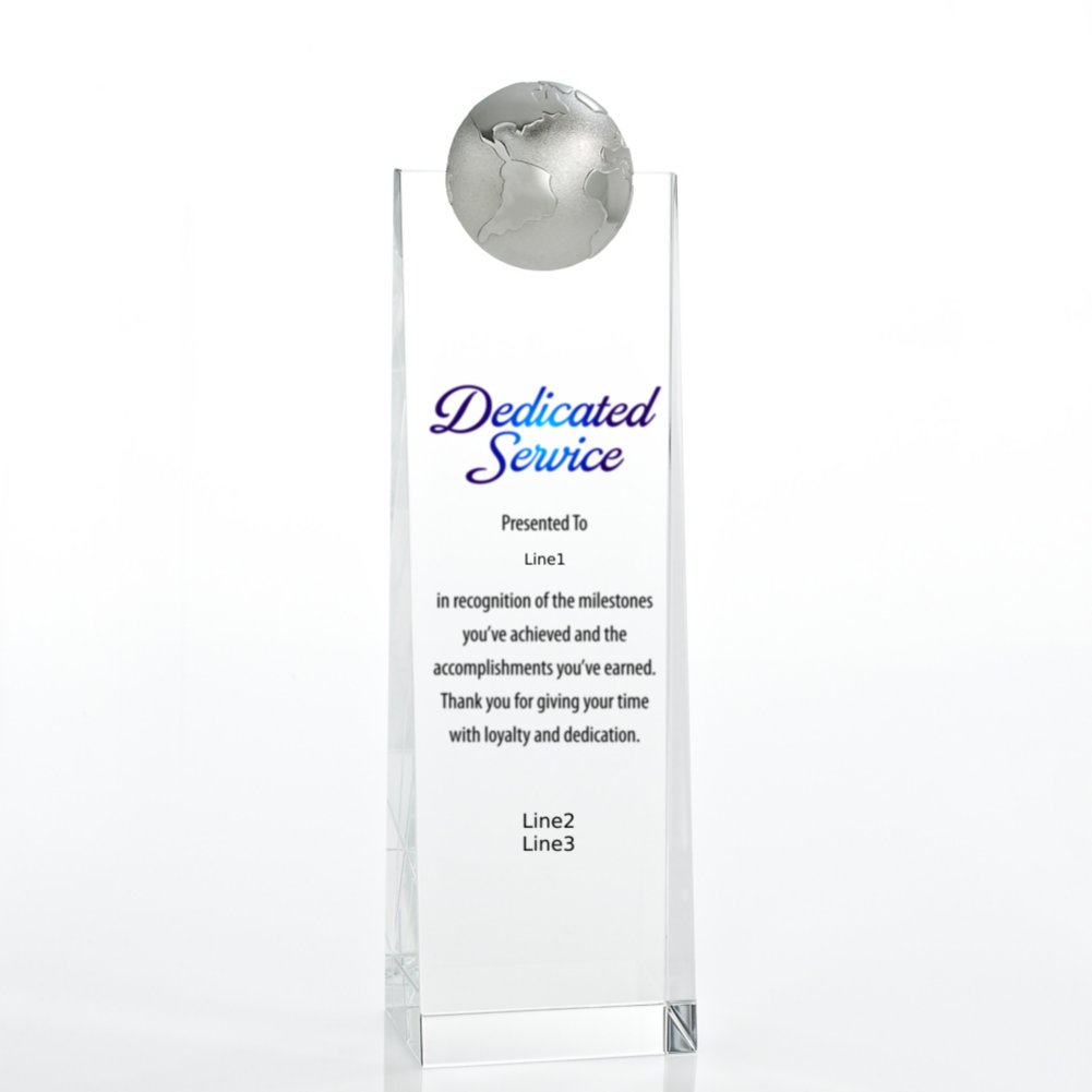 View larger image of Limitless Collection: Crystalline Tower Trophies - Globe