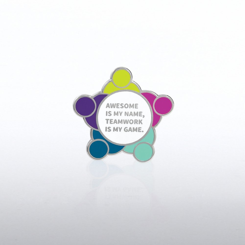 Lapel Pin - Awesome Is My Name, Teamwork Is My Game