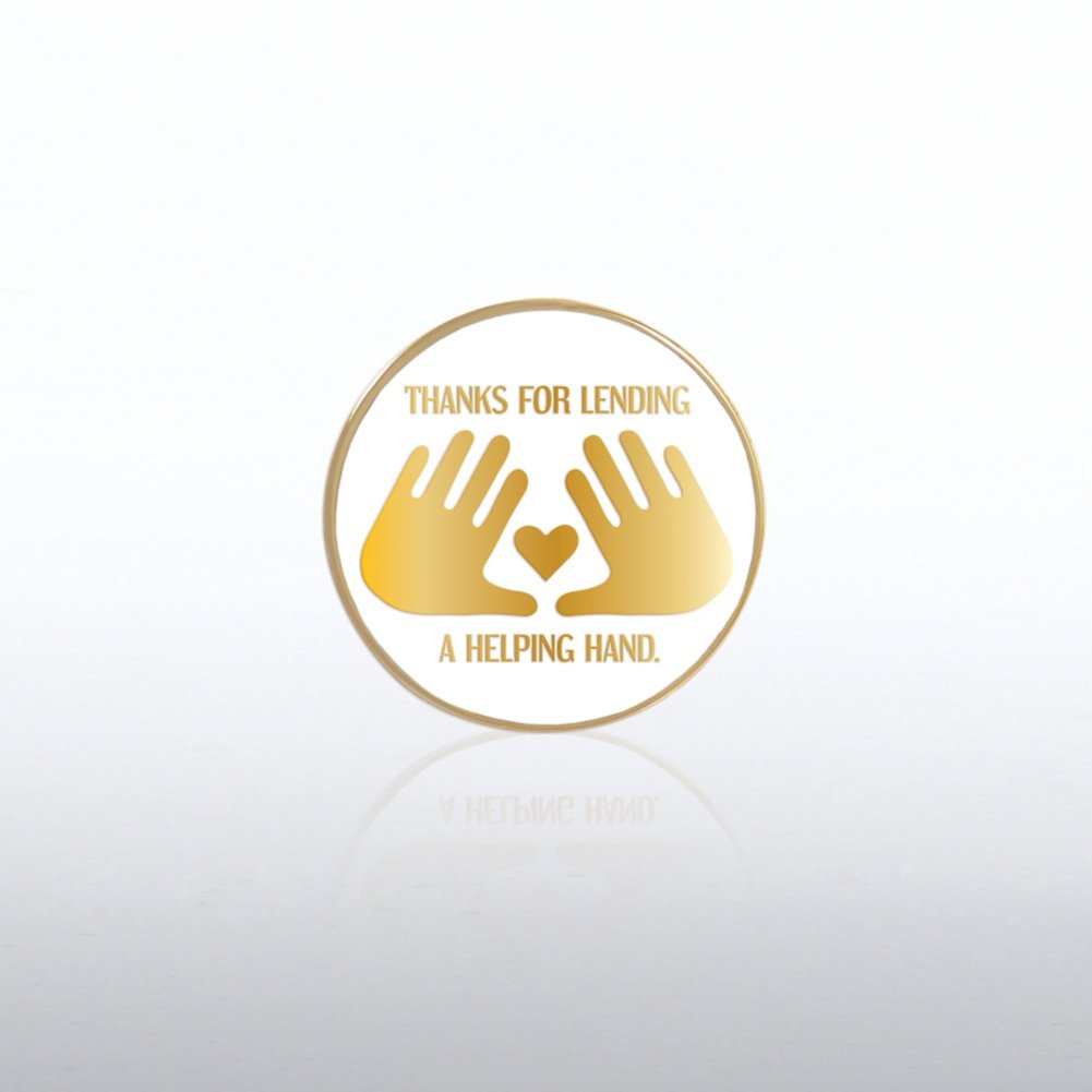 View larger image of Lapel Pin - Thanks For Lending A Helping Hand