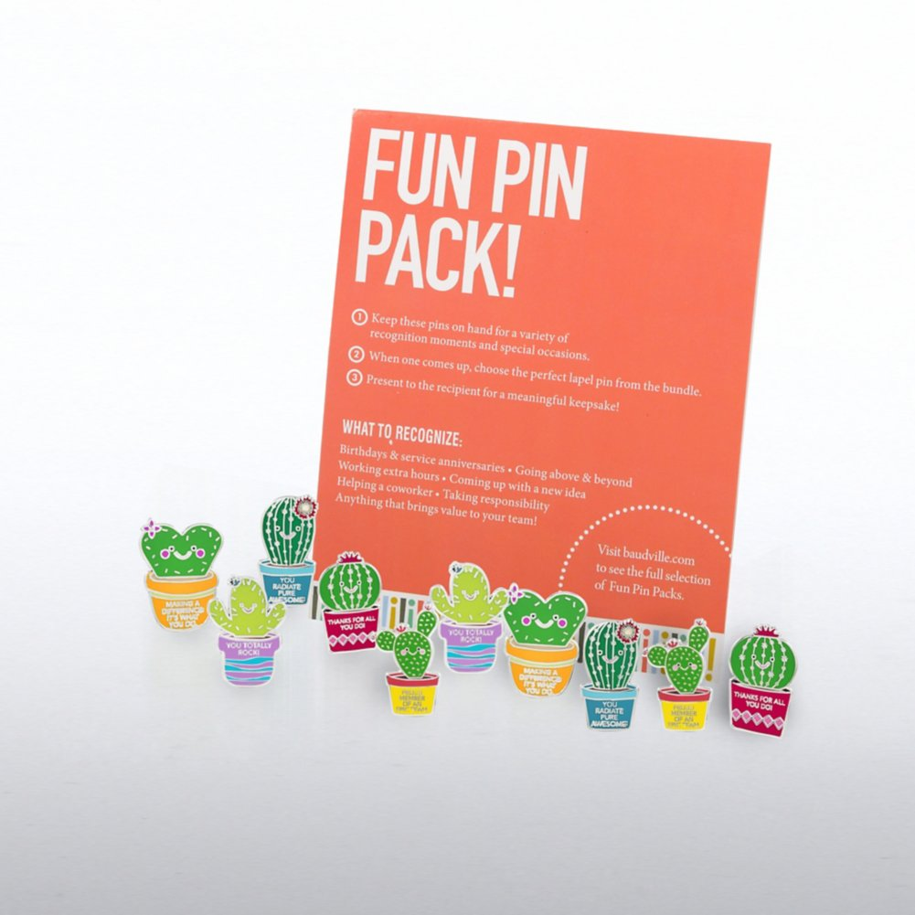 View larger image of Fun Pin Pack - Cheerful Cacti