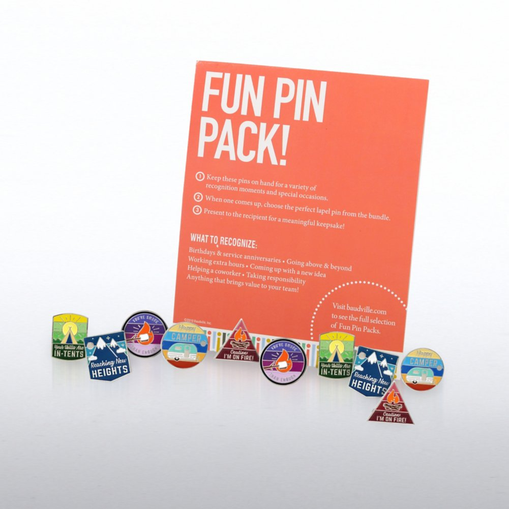 View larger image of Fun Pin Pack - Happy Campers
