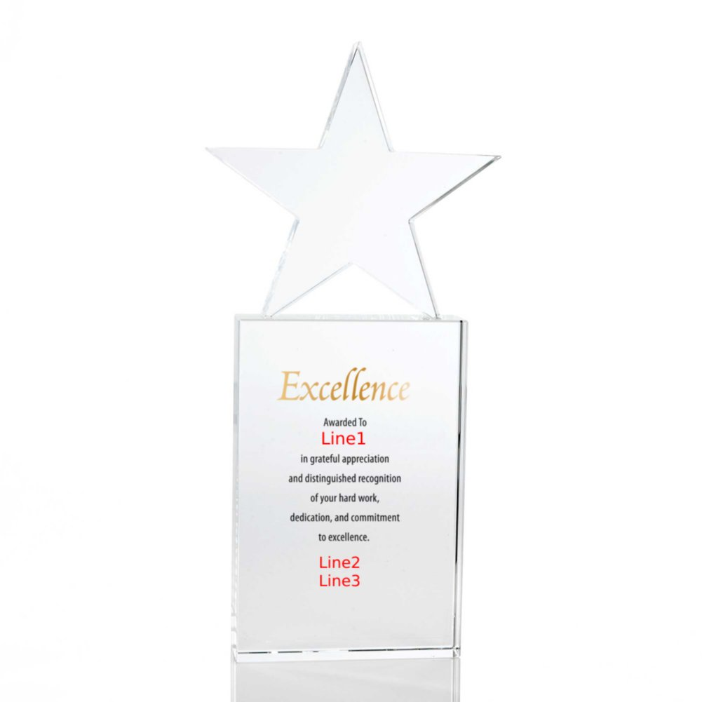 Limitless Collection: Crystal Trophy - Star - Large