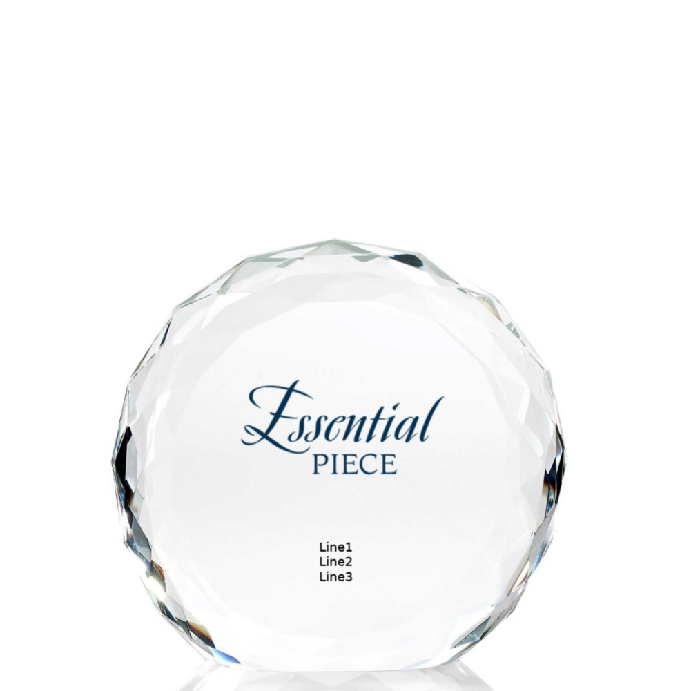 Limitless Collection: Beveled Round Crystal Trophy - Circle