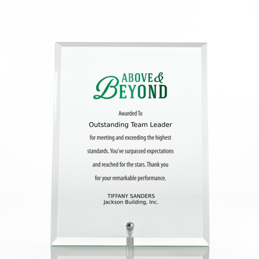 View larger image of Limitless Collection: Glass Award Character Plaque - Clear