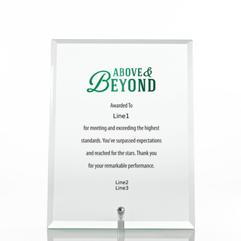 Limitless Collection: Glass Award Character Plaque - Clear