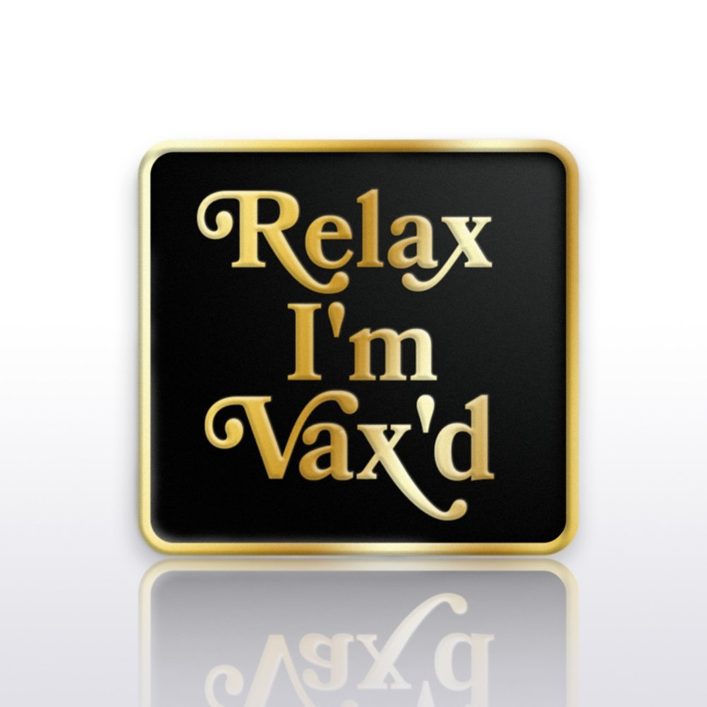 View larger image of Lapel Pin - Relax I'm Vax'd