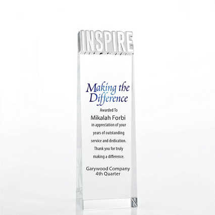 Limitless Collection: Crystalline Tower Trophy - Inspire