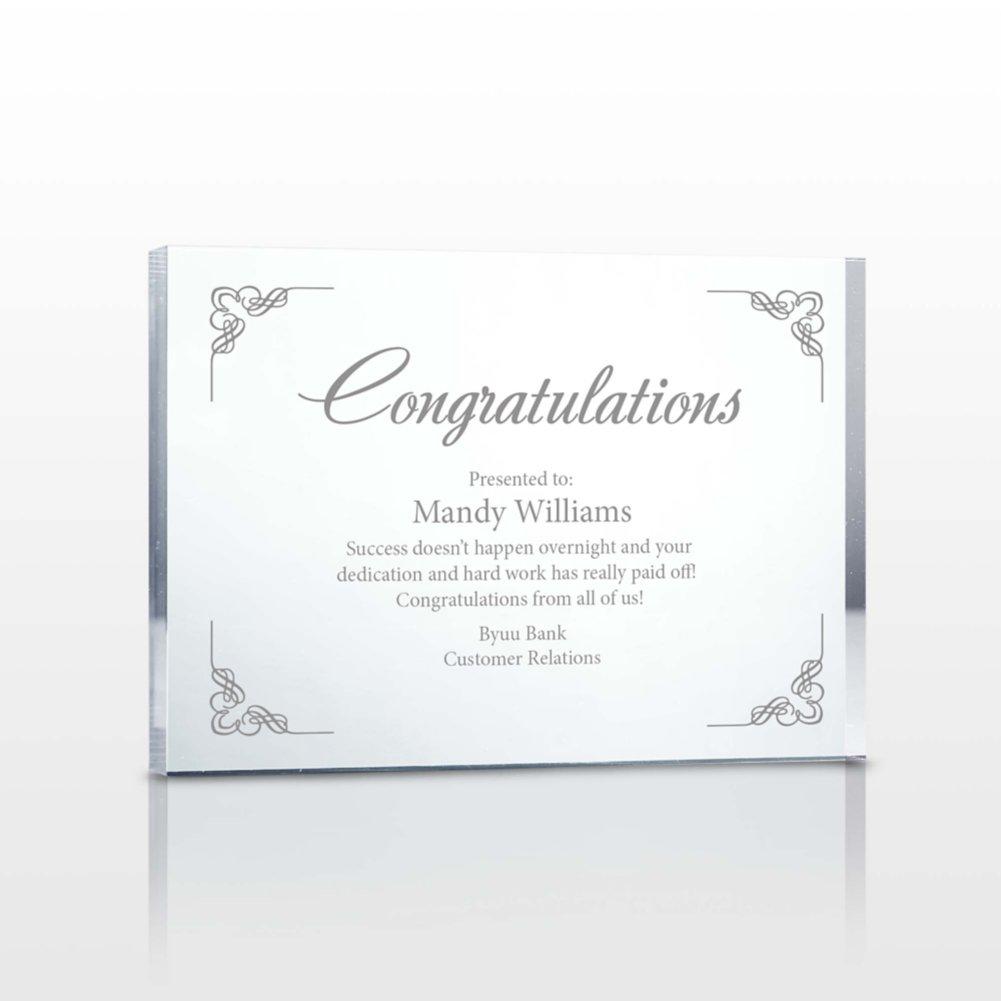 View larger image of Noteworthy Service Acrylic Award Plaque - Medium