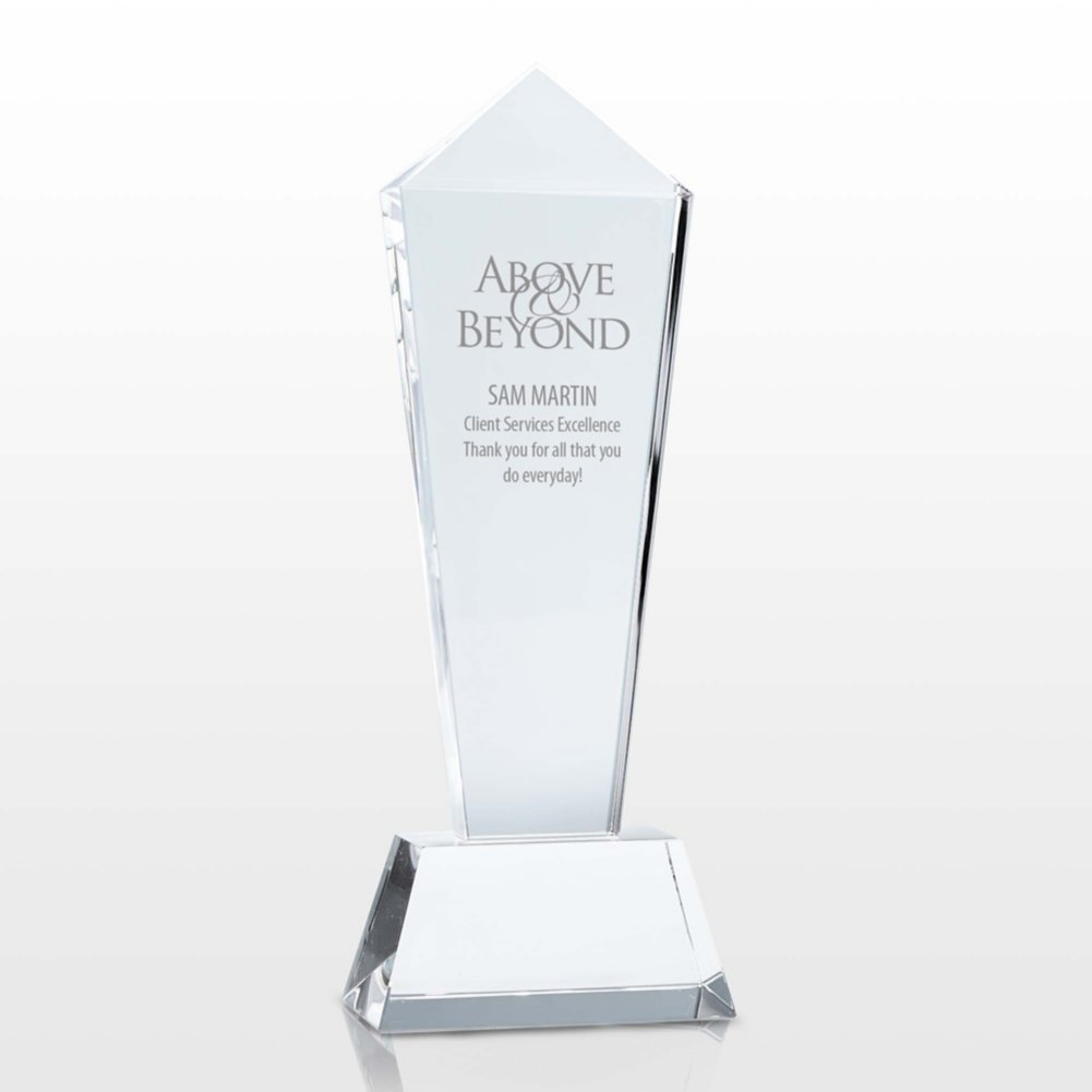 View larger image of Pillar of Success Crystal Trophy - Tower