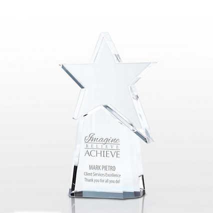 Pillar of Success Crystal Trophy - Shooting Star