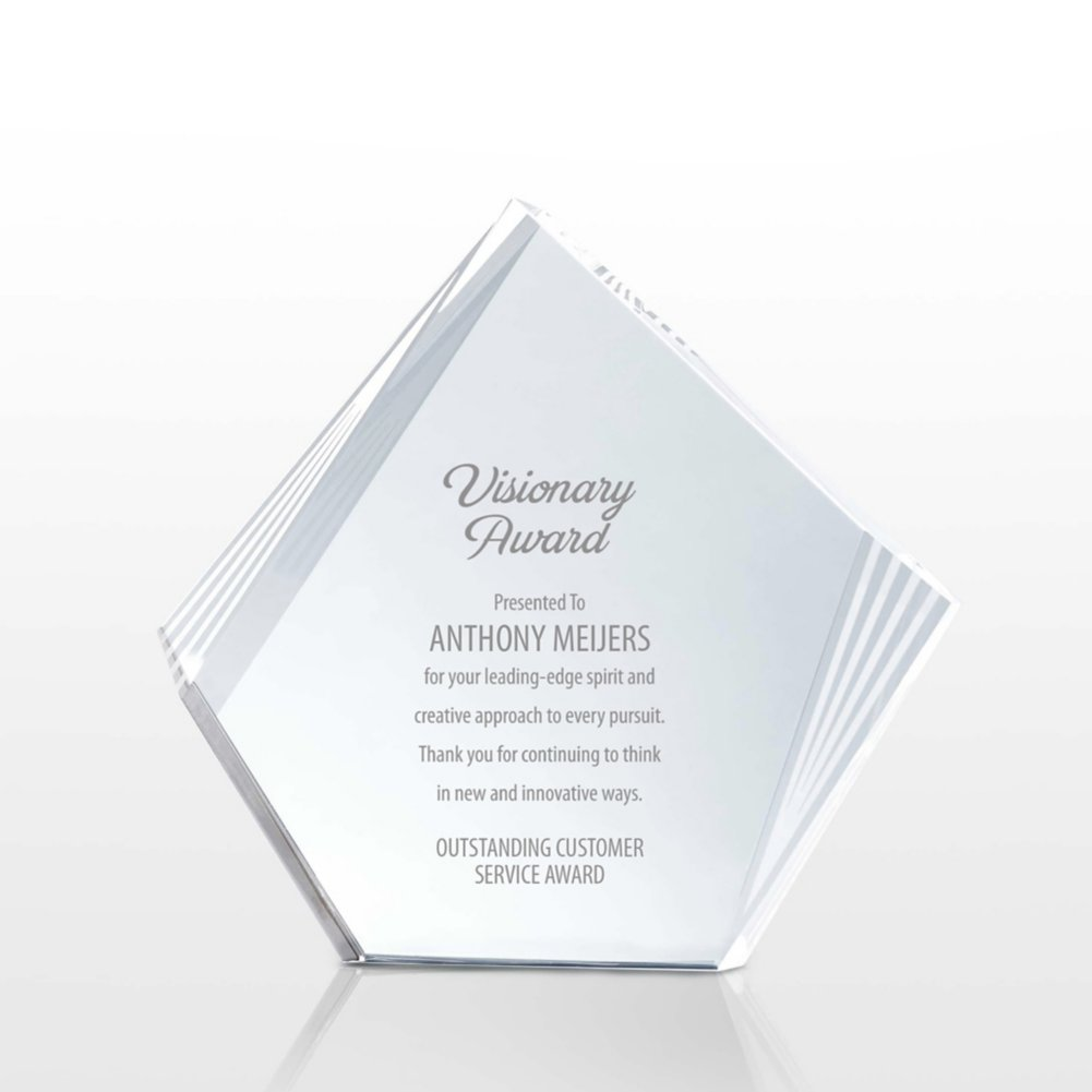 View larger image of Etched Deco Crystal - Diamond