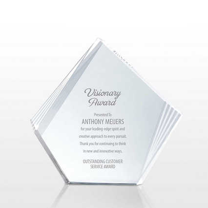 Etched Deco Crystal - Diamond