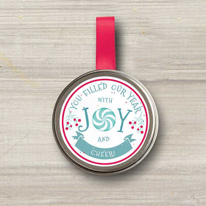 Sprinkle Seed Grow Tin Ornament - Joy and Cheer