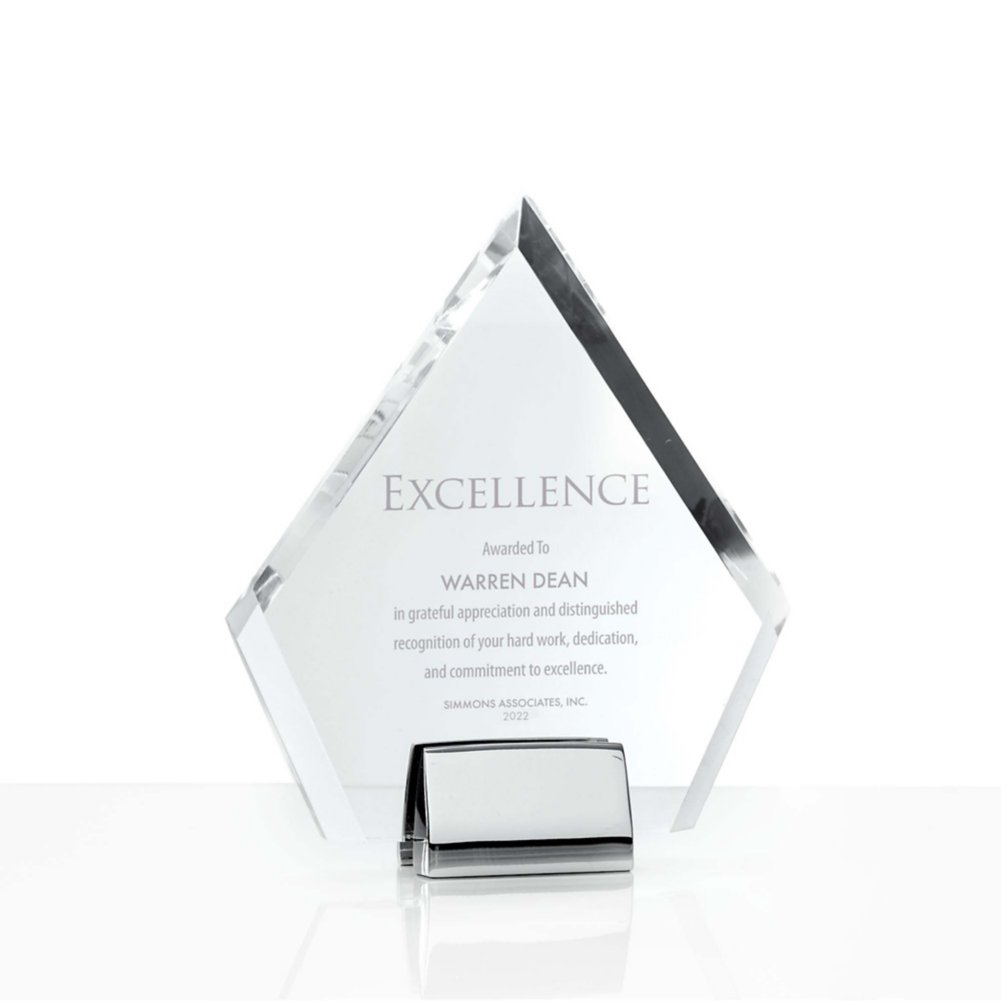 View larger image of Chrome Accented Acrylic Trophy - Diamond