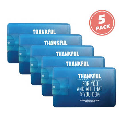 Give Some Credit Sanitizer Card Pack - Thankful