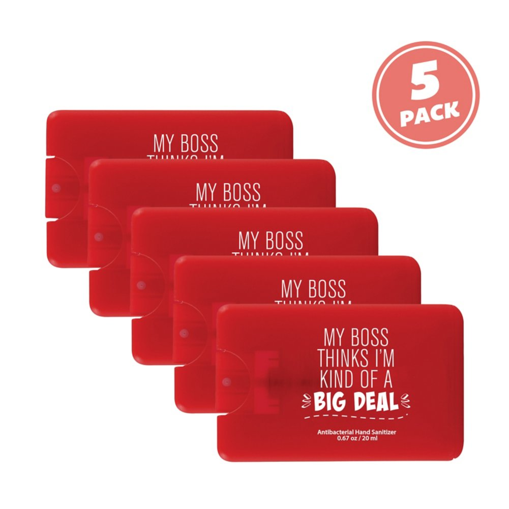 View larger image of Give Some Credit Sanitizer Card Pack - Big Deal