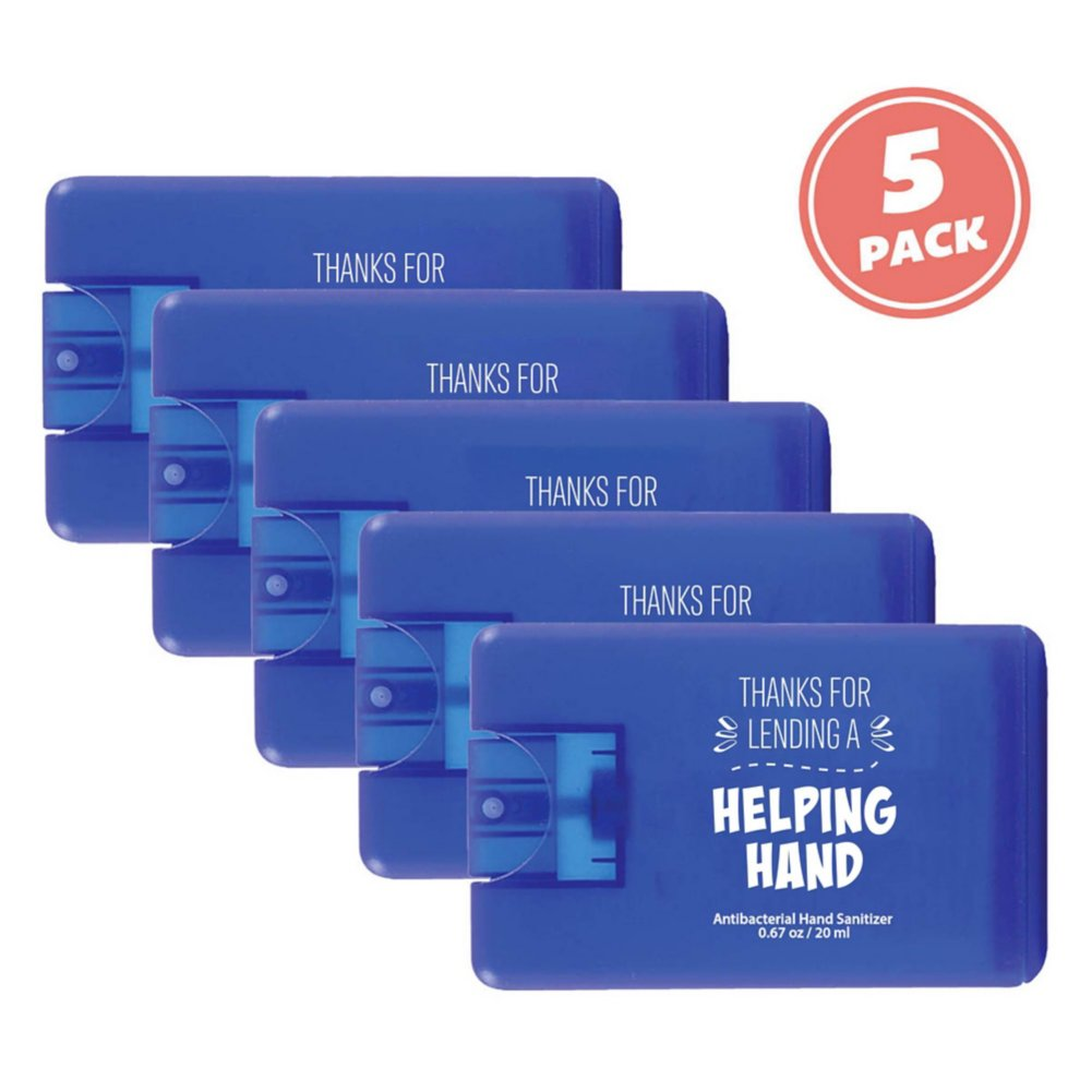 View larger image of Give Some Credit Sanitizer Card Pack - Helping Hand