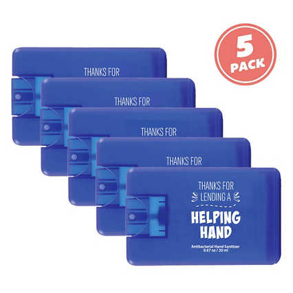 Give Some Credit Sanitizer Card Pack - Helping Hand