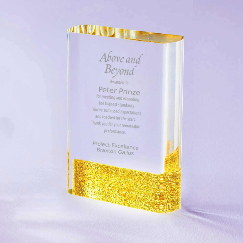 View larger image of Full of Luster Acrylic Glitter Accented Trophy - Rectangle