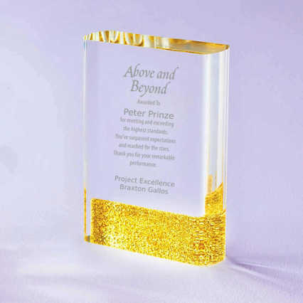 Full of Luster Acrylic Glitter Accented Trophy - Rectangle