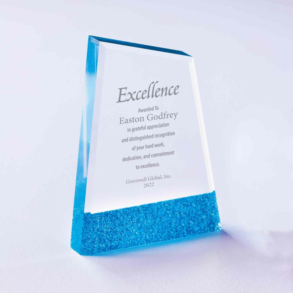 View larger image of Full of Luster Acrylic Glitter Accented Trophy - Apex