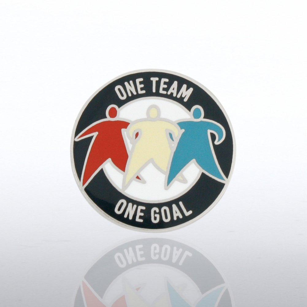 View larger image of Lapel Pin - One Team, One Goal
