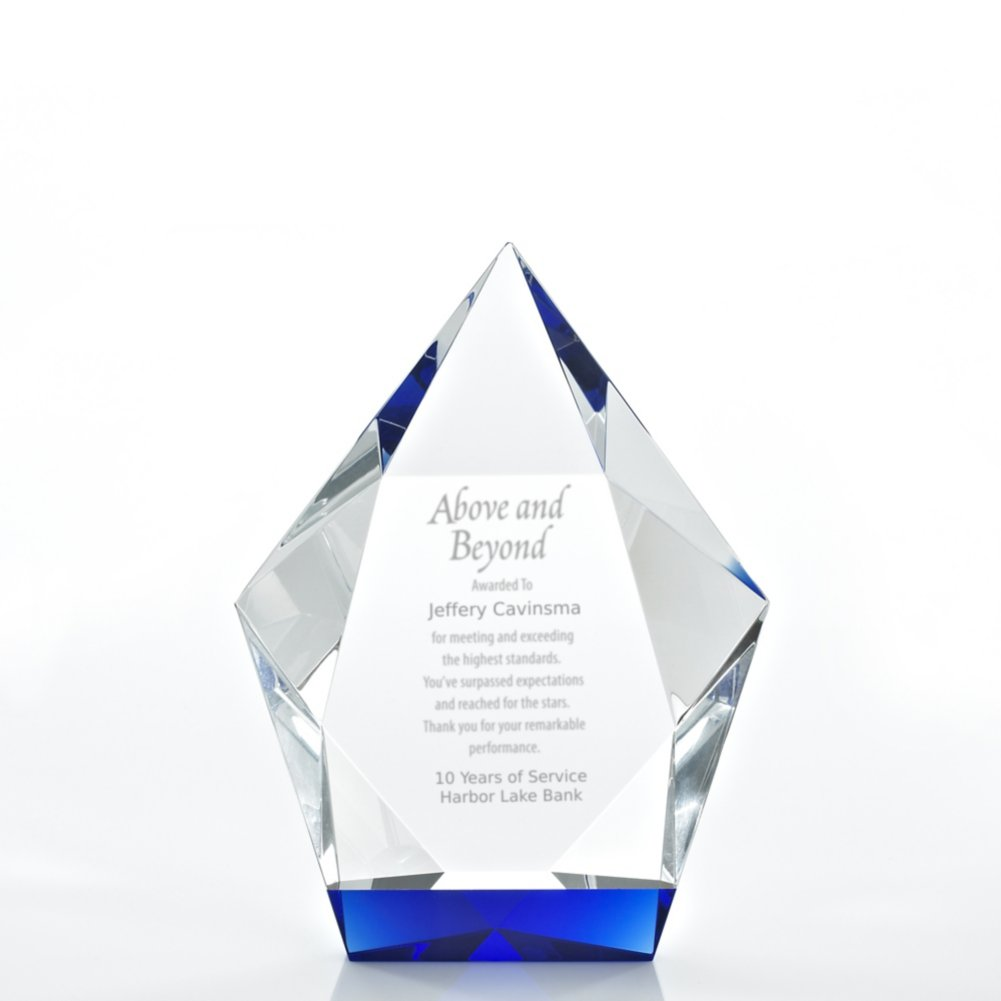 View larger image of Royal Blue Crystal Accent Trophy - Diamond