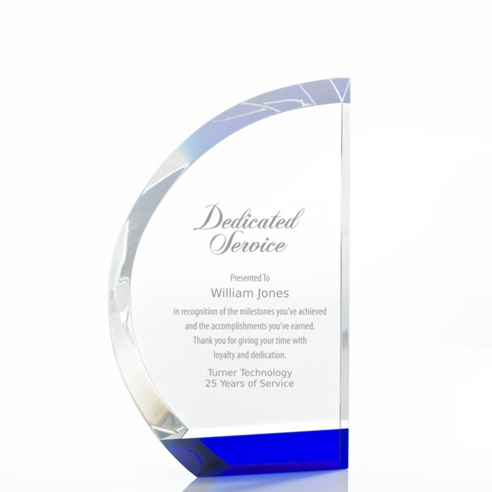 View larger image of Royal Blue Crystal Accent Trophy - Sail