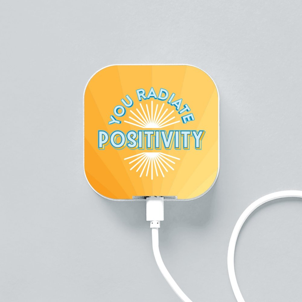 View larger image of Boost-Up Qi Charger - You Radiate Positivity