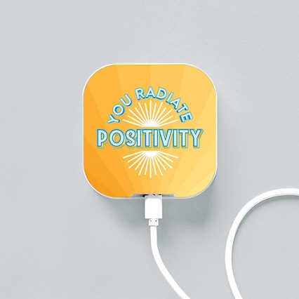 Boost-Up Qi Charger - You Radiate Positivity