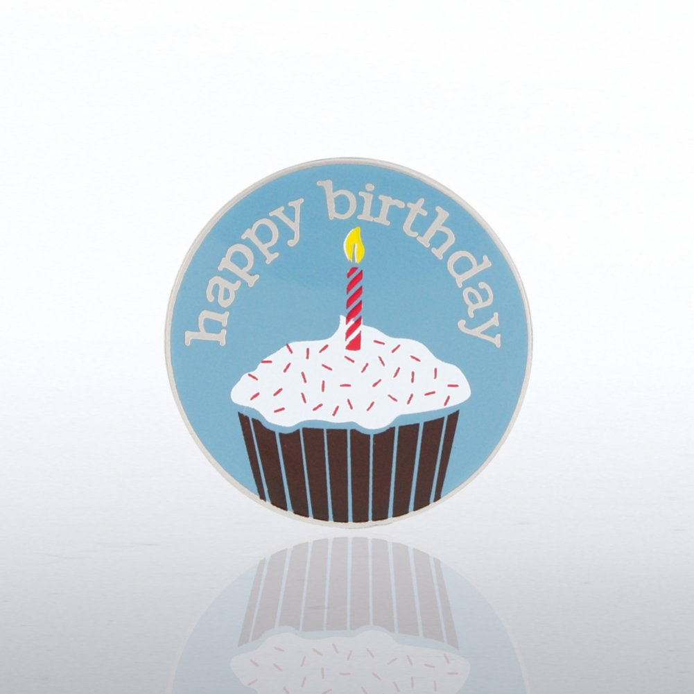 View larger image of Lapel Pin - Happy Birthday Cupcake
