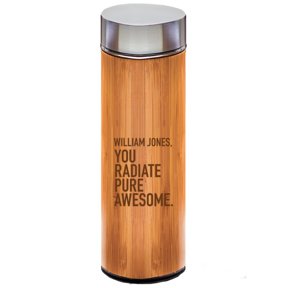 View larger image of Custom Collection: Eco-Wise Bamboo Water Bottle