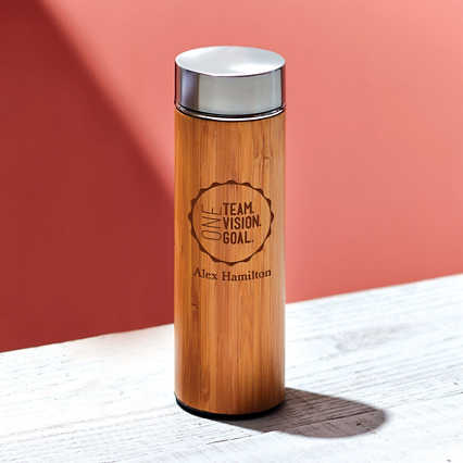 Surpr!se Custom: Eco-Wise Bamboo Water Bottle
