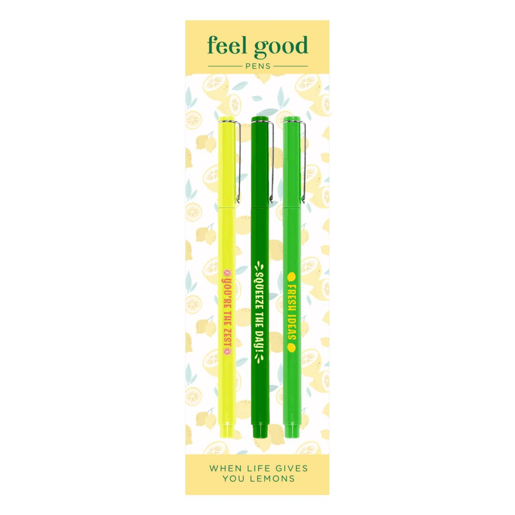 View larger image of Feel Good Pens - Le Pen Gift Pack - Lemon Squeeze Theme