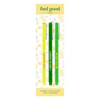 Feel Good Pens - Le Pen Gift Pack - Lemon Squeeze Theme