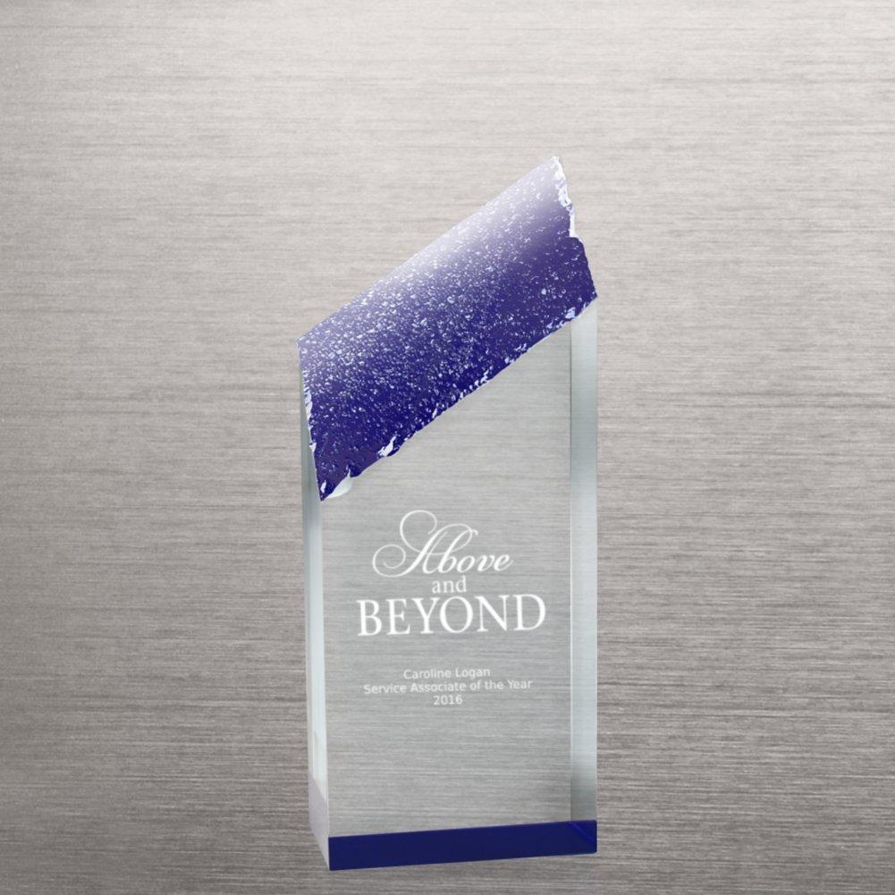 View larger image of Acrylic Color Reflection Glacier Trophy - Medium Blue