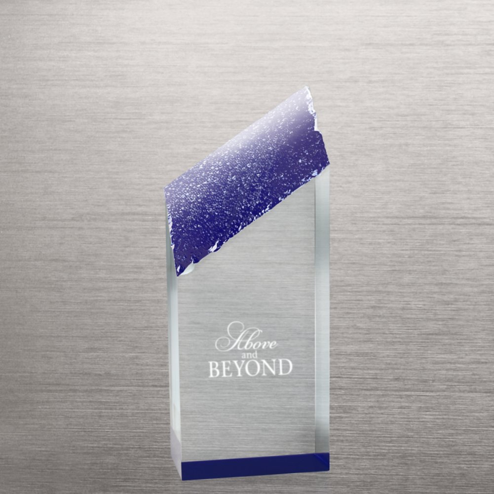 View larger image of Acrylic Color Reflection Glacier Trophy - Medium Blue