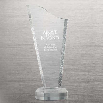 Acrylic Glacier Trophy - Tower