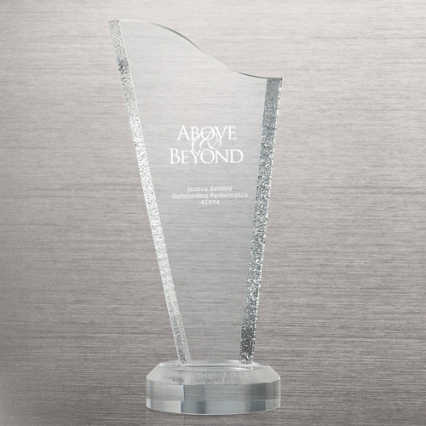 Acrylic Glacier Trophy - Tower