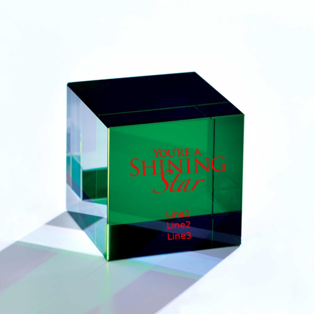 View larger image of Crystal Block Trophy - Green
