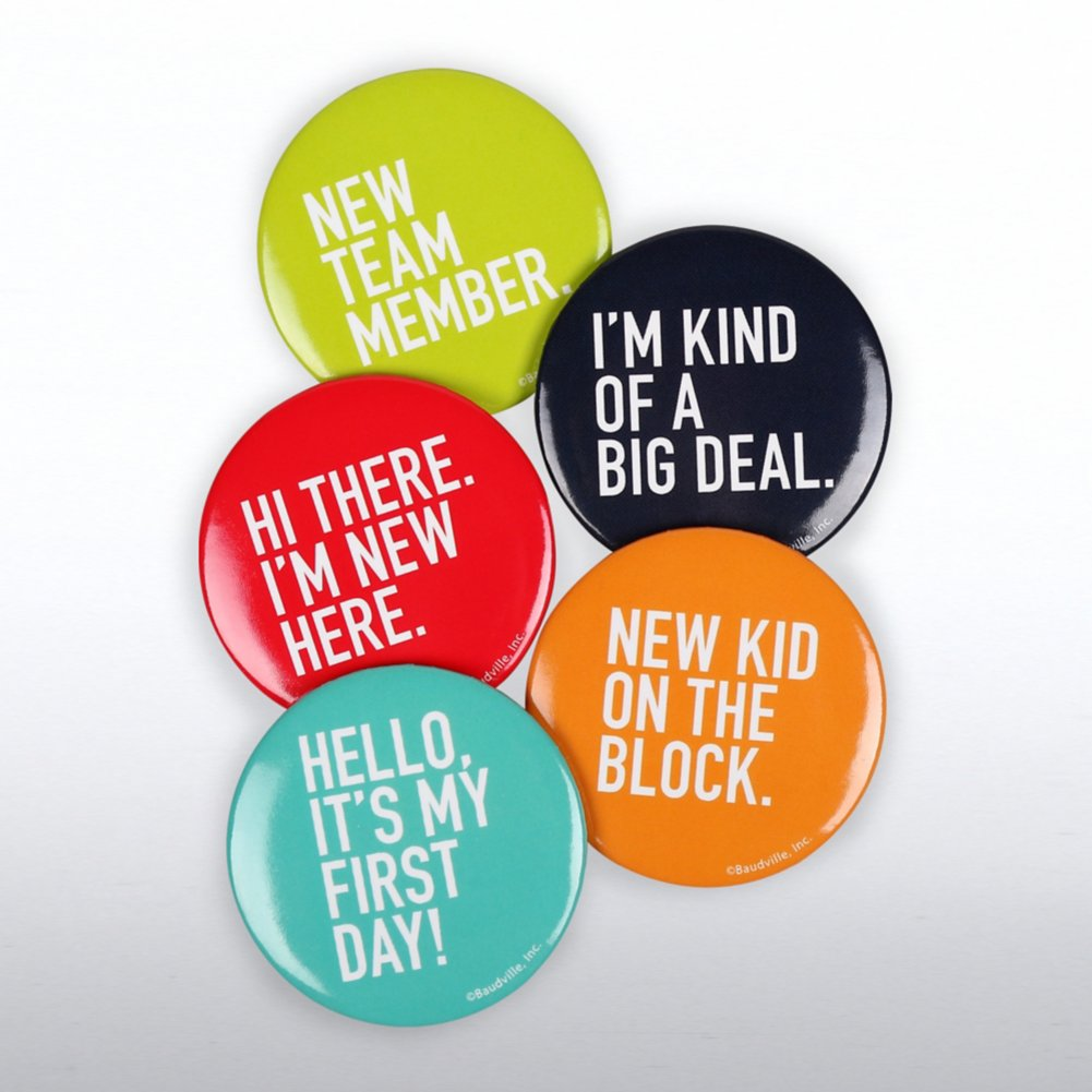View larger image of Onboarding Button Set for New Employees