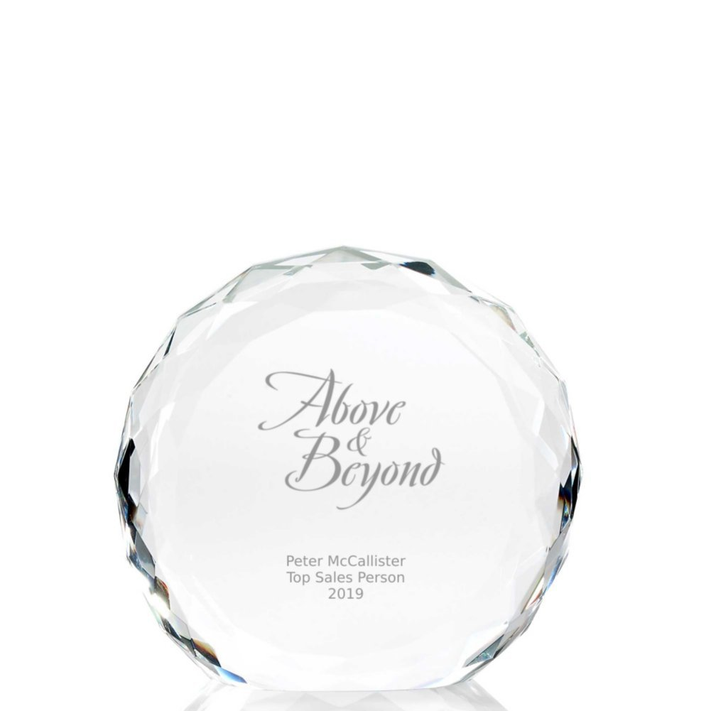 View larger image of Beveled Round Crystal Trophy Collection: Circle