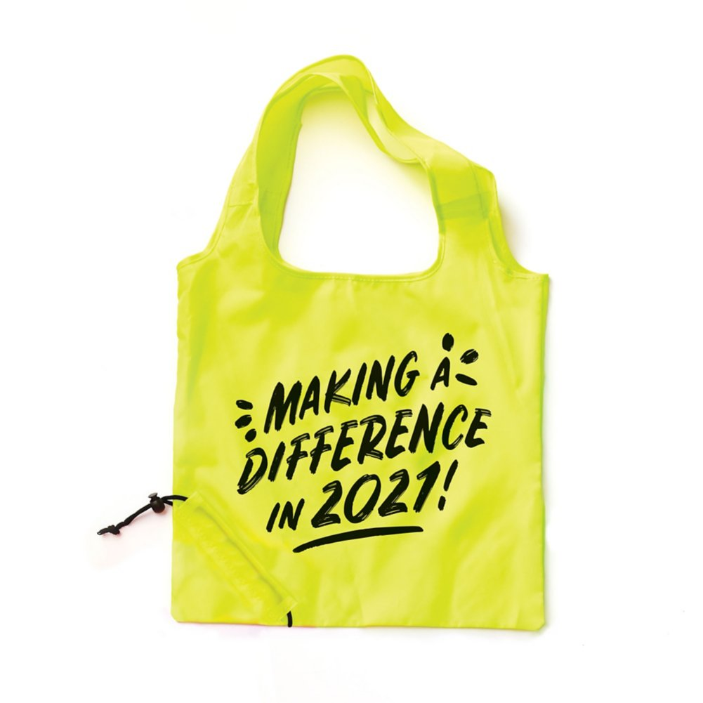 View larger image of Bright Side Neon Fold Tote  - Making a Difference