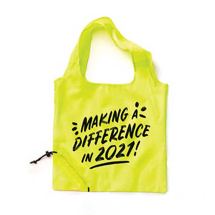 Bright Side Neon Fold Tote  - Making a Difference