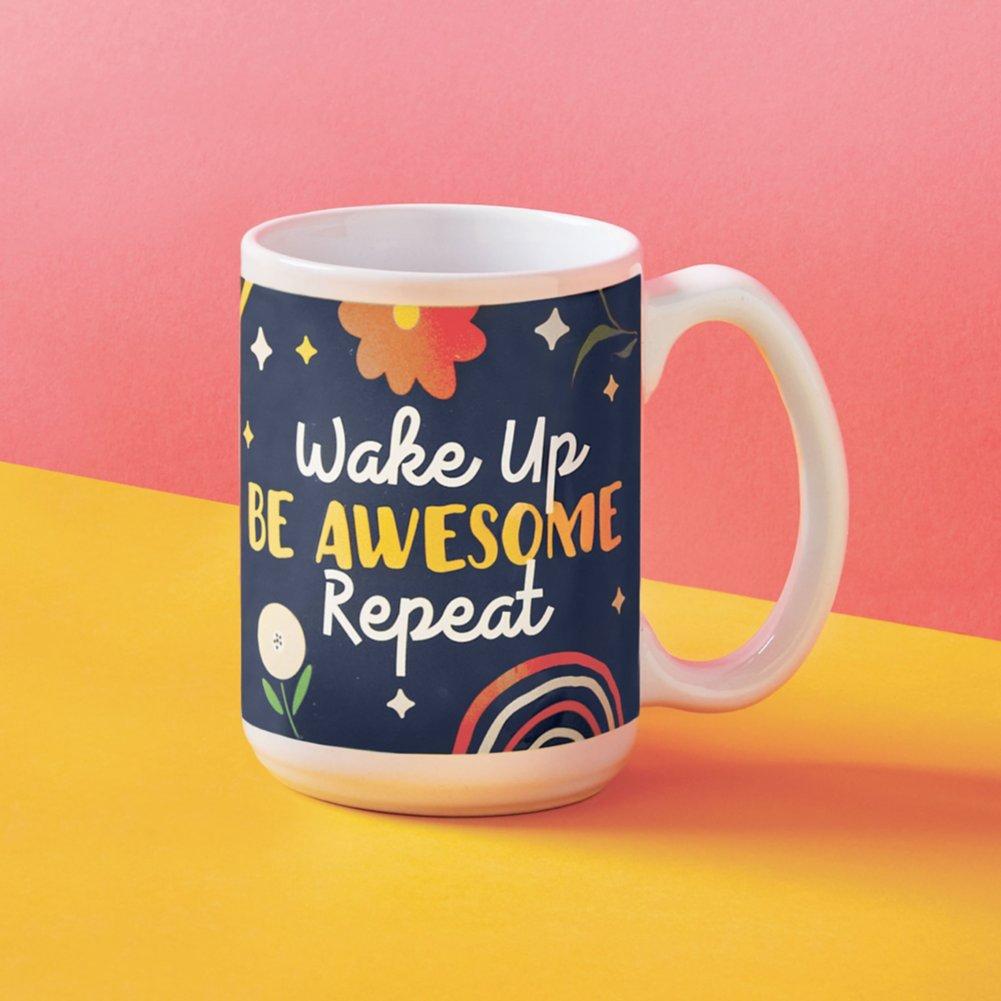 View larger image of Perk Me Up Ceramic Mug - Be Awesome