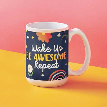 Perk Me Up Ceramic Mug - Be Awesome
