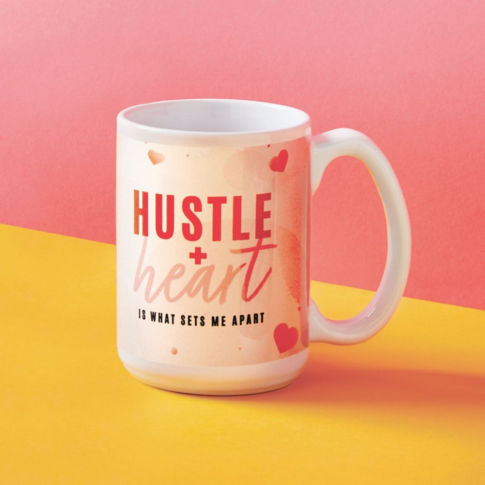 View larger image of Perk Me Up Ceramic Mug - Hustle + Heart