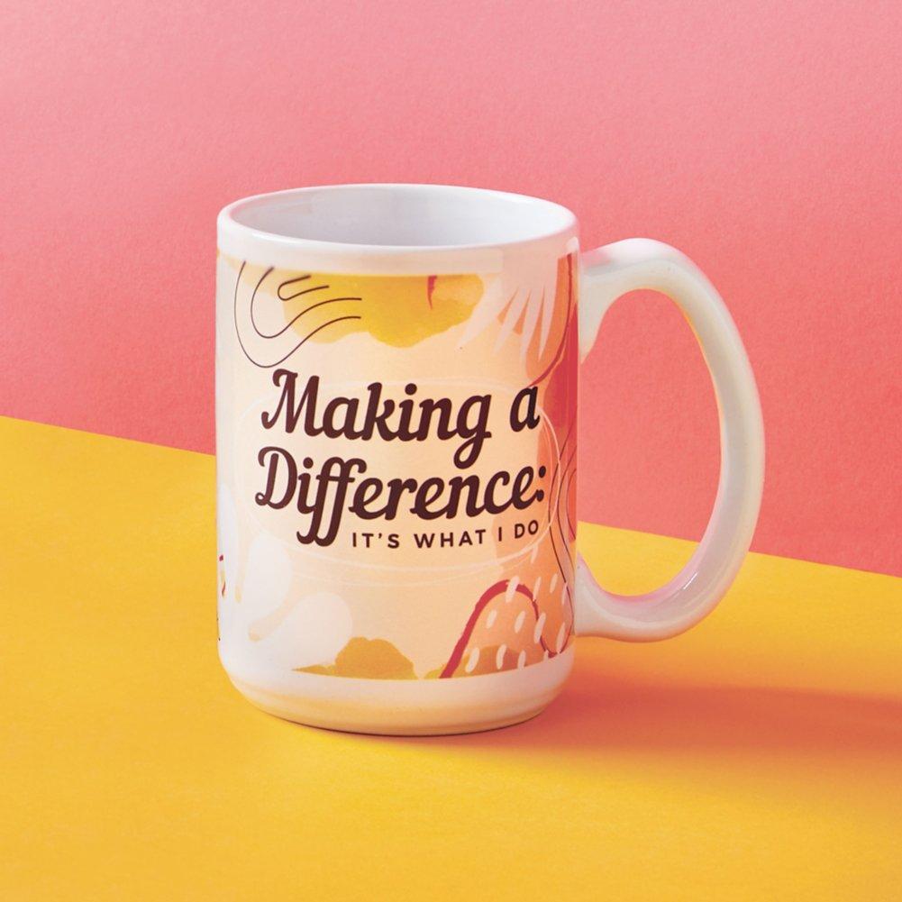 View larger image of Perk Me Up Ceramic Mug - Making a Difference