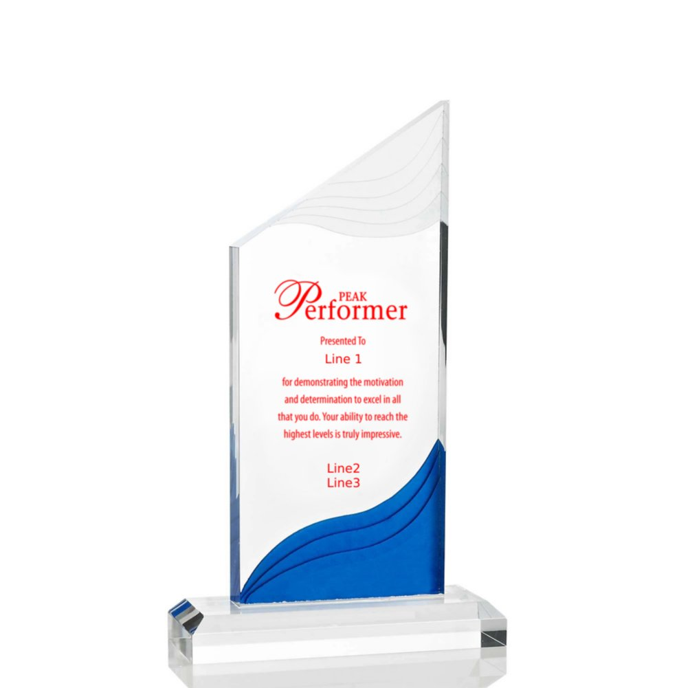 View larger image of Frosted Blue Shimmer Acrylic Awards - Tower